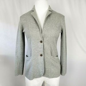 J Crew  Sweater Blazer Gray Cardigan C1324